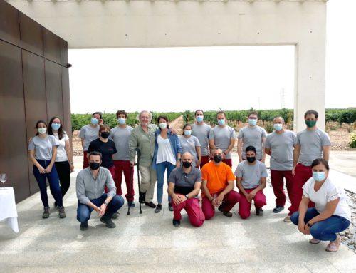 Belondrade: el equipo celebra el comienzo de vendimia 2021